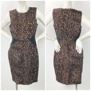 Calvin Klein Leopard Print Career Sheath Dress